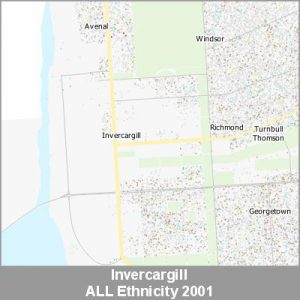 Ethnicity Invercargill ALL ProductImage 2001